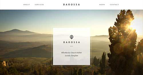 Barossa - One Page Joomla Themes