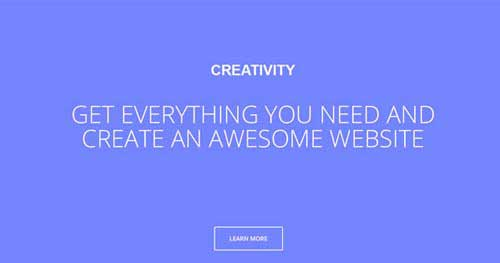 Creativity - One Page Joomla Themes