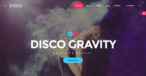 Disco Gravity Joomla Theme