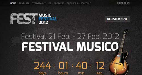 Fest - Joomla Music Themes