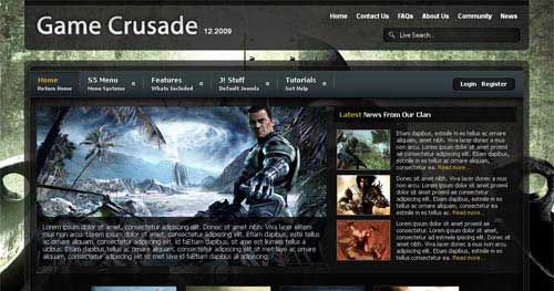 Game Crusade - Joomla Gaming Themes