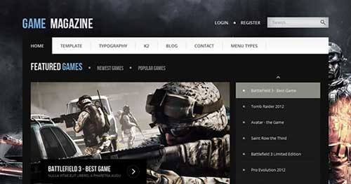 Game Magazine - Joomla Gaming Themes