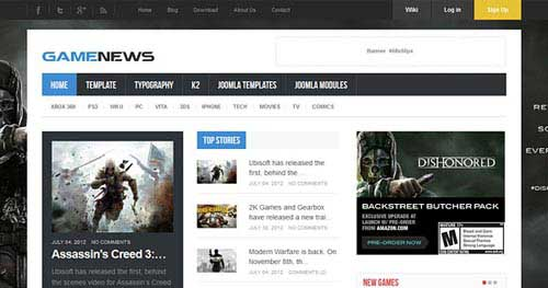 Game News - Joomla Gaming Themes