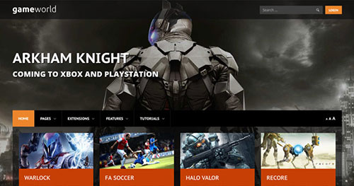 Game World Joomla Theme