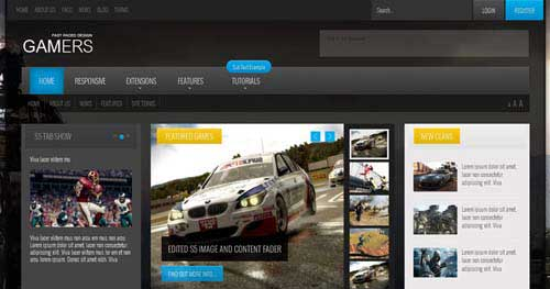 Gamers - Joomla Gaming Themes