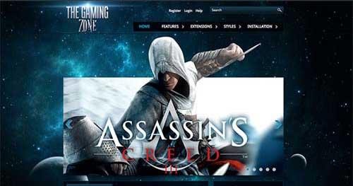 Gaming Zone - Joomla Gaming Themes