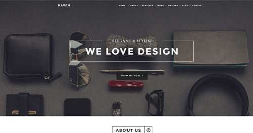Haven - One Page Joomla Themes