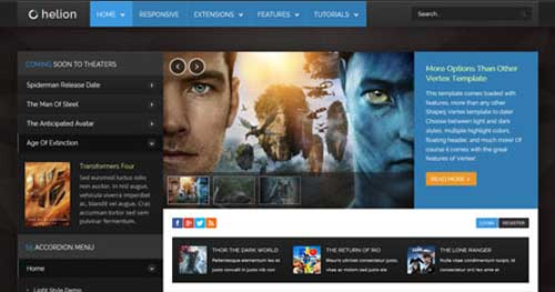 Helion - Joomla Gaming Themes