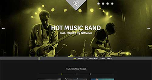 Hot Music Band - One Page Joomla Themes