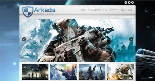 J51 Arkadia - Joomla Gaming Themes