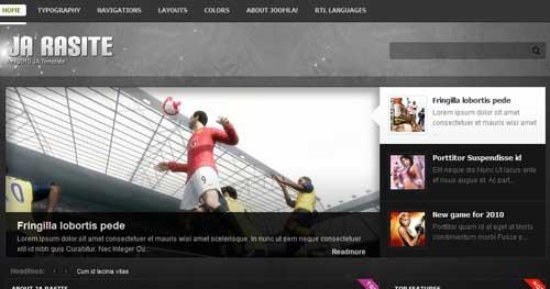 JA Rasite - Joomla Gaming Themes