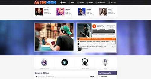 JSN Neon - Joomla Music Themes