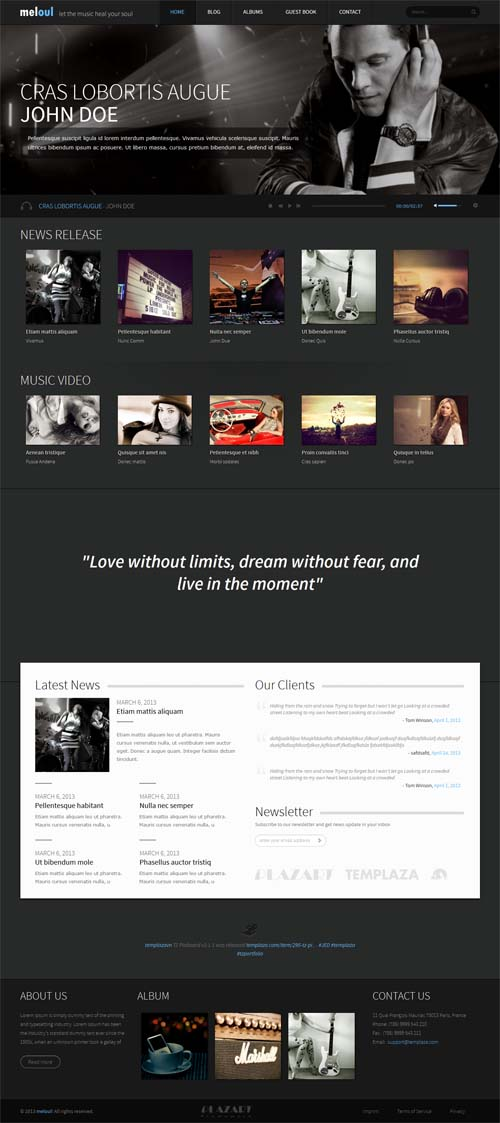 Meloul - Joomla Music Themes
