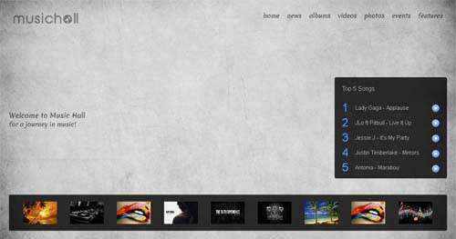 Music Hall - Joomla Music Themes