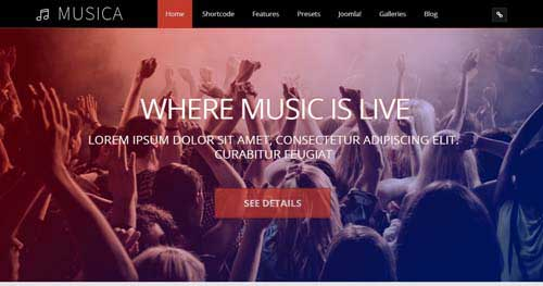 Musica Musical - Joomla Music Themes