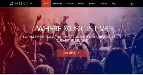 Musica Musical - Joomla Music Themes