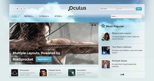 Oculus - Joomla Gaming Themes