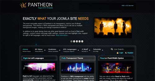 Pantheon - Joomla Music Themes