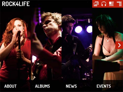 Rock4Life - Joomla Music Themes