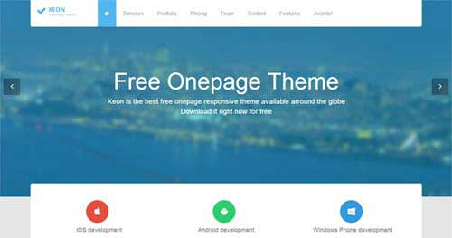 Shaper Xeon - One Page Joomla Themes