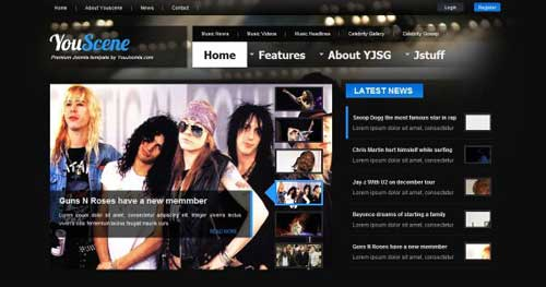YouScene - Joomla Music Themes