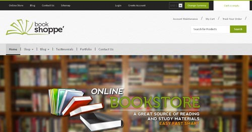 BookStore - VirtueMart Joomla Themes