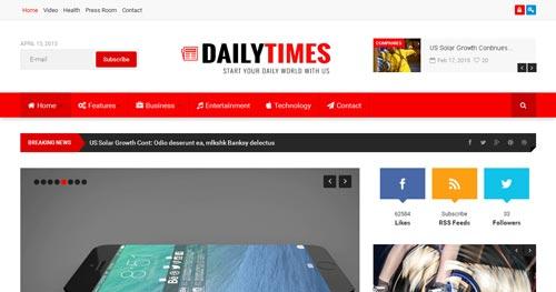 DailyTimes Joomla Theme