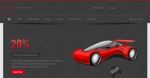 E-Cart - VirtueMart Joomla Themes