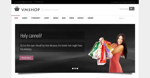 GT05 VMShop - VirtueMart Joomla Themes
