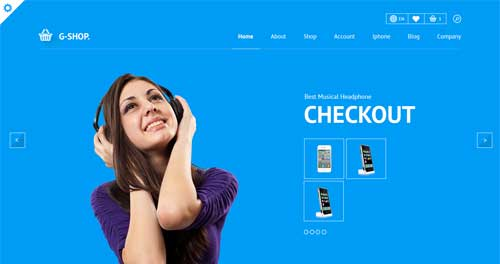 Gshop - VirtueMart Joomla Themes