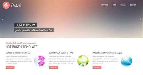 Hot Bokeh - Free Joomla Themes