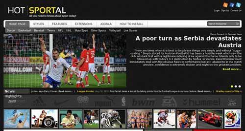 Hot Sportal - Joomla News Magazine Themes