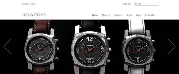 Hot Watches - VirtueMart Joomla Themes