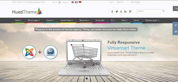 HuedTheme - VirtueMart Joomla Themes