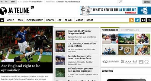 JA Teline IV - Joomla News Magazine Themes