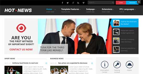JM-Hot-News - Joomla News Magazine Themes