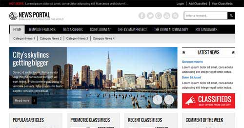 JM-News-Portal - Joomla News Magazine Themes