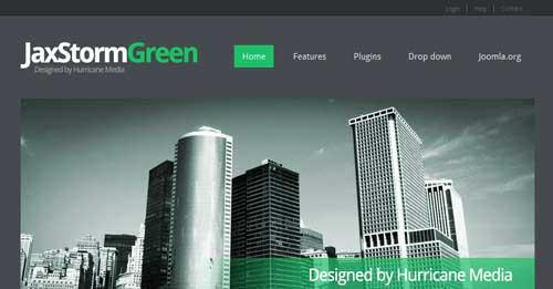 JaxStorm Green - Free Joomla Themes