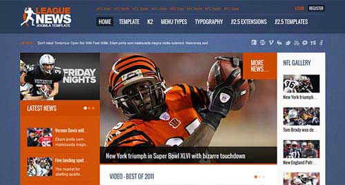 League News - Joomla News Magazine Themes