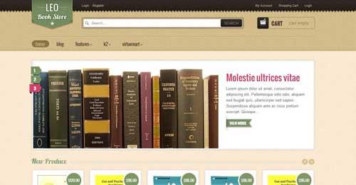 Leo BookStore - VirtueMart Joomla Themes