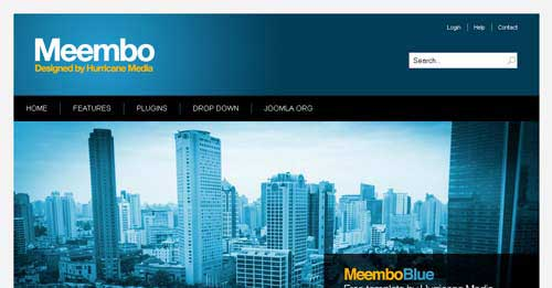 Meembo Blue - Free Joomla Themes
