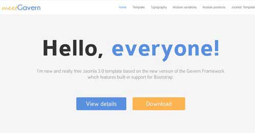 Meet Gavern - Free Joomla Themes