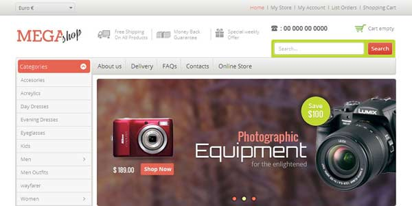 Mega Shop - VirtueMart Joomla Themes