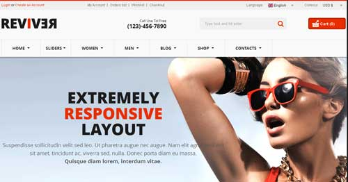 Reviver - VirtueMart Joomla Themes