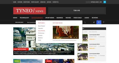 ST Tyneo - Joomla News Magazine Themes