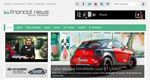 Shaper Financial News - Joomla News Magazine Themes