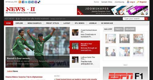 Shaper News II - Joomla News Magazine Themes