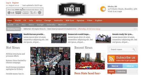Shaper News III - Joomla News Magazine Themes