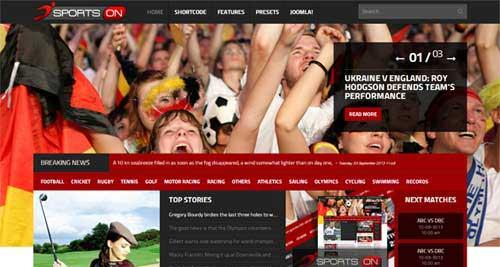 Shaper SportsOn - Joomla News Magazine Themes