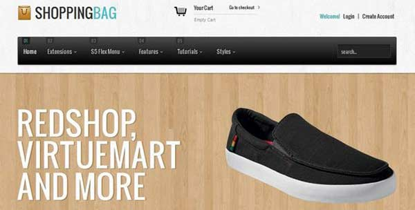 Shopping-Bag - VirtueMart Joomla Themes